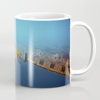 edinburgh Mugs featuring Edinburgh Castle  by Richard PJ Lambert