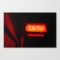 beer Canvas Prints featuring Beer by Chee Sim