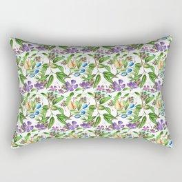 Floral naïf pattern Rectangular Pillow