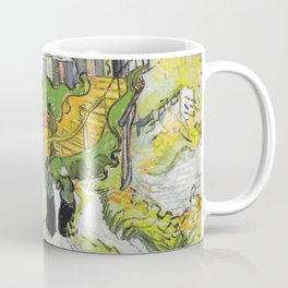 Vincent Van Gogh Village Street and Stairs in Auvers with Figures 1890 Coffee Mug