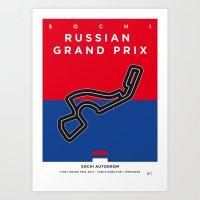 My F1 SOCHI Race Track Minimal Poster Art Print