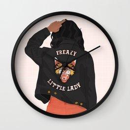 Freaky Little Lady Wall Clock