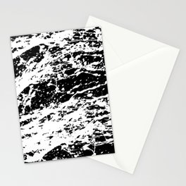 Black and White Paint Splatter Stationery Cards