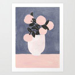 Posy Blue Art Print