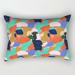 Kara - paint palette abstract minimal modern art bright colorful boho urban painting college dorm Rectangular Pillow