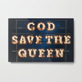 God save the Queen - Hotel Metal Print