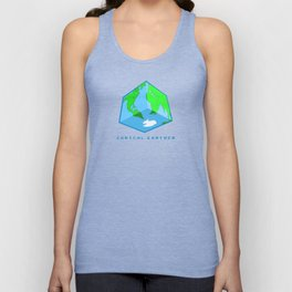 Cubical Earther Unisex Tank Top