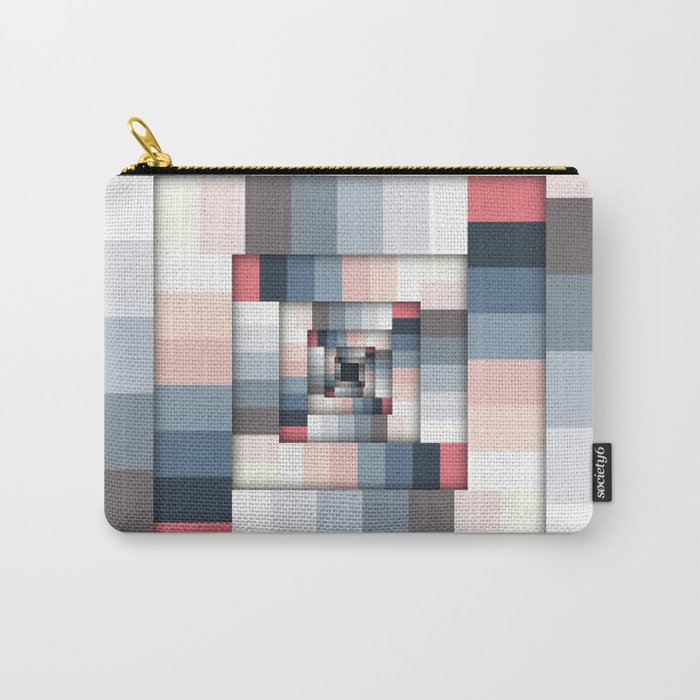 Geometric Layers of Color Carry-All Pouch
