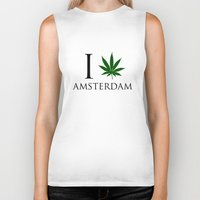 amsterdam Biker Tanks featuring Amsterdam  by mark ashkenazi