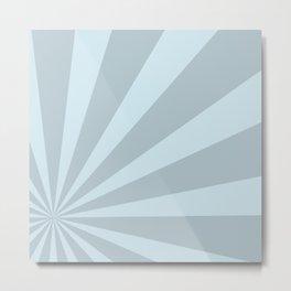 Retro sunburst style abstract background Metal Print