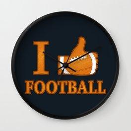 I Like Football Wall Clock