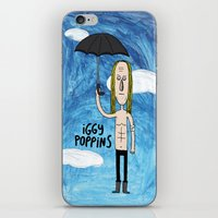 iggy iPhone & iPod Skins featuring Iggy Poppins by Levedad