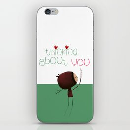 Thinking about You iPhone Skin
