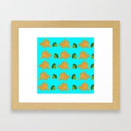 Dino nuggets Framed Art Print