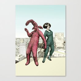 Dancing on the roof Canvas Print