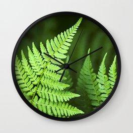 Fern Leaf Wall Clock