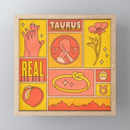 Taurus Framed Mini Art Print
