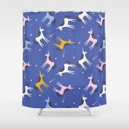Super unicorn sparkles Shower Curtain