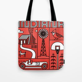 Indiana Landmarks by Swirvington Tote Bag