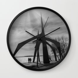 Couple silhouette Wall Clock