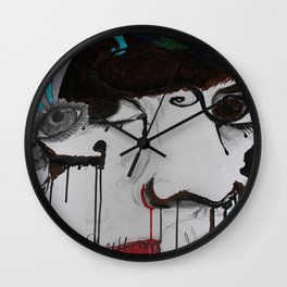 Inking Away Wall Clock