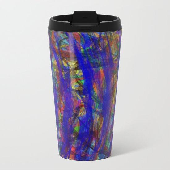 Blue Intensity Metal Travel Mug