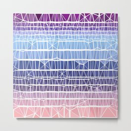 Low Poly Pink, Purple, and Blue Gradient Metal Print