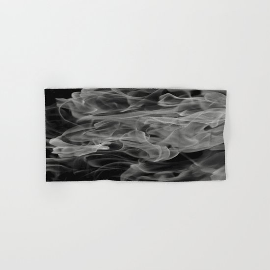 Whispers - Black and white abstract Hand & Bath Towel