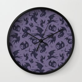 Batcats purple Wall Clock