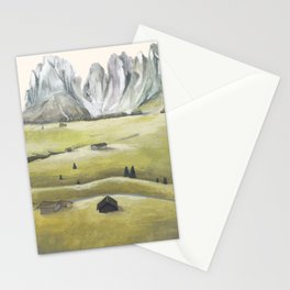 Swiss mountain landscape Stationery Cards