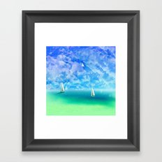 Beautiful Day For Sailing Framed Art Print