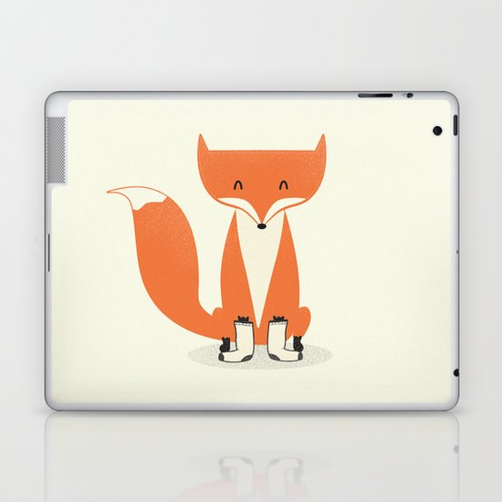 A Fox With Socks Laptop & iPad Skin