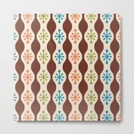 Mid Century Modern Ogee Pattern 143 Metal Print