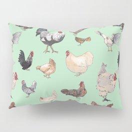 Chicken Happy (green) Pillow Sham