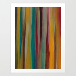 Colorful Acrylic Painting Paths Art Print