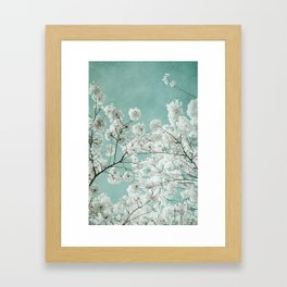 flowering season Framed Art Print