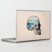 ocean Laptop & iPad Skins featuring Brain Waves by Chase Kunz