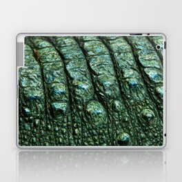 Green Alligator Leather Print Laptop & iPad Skin