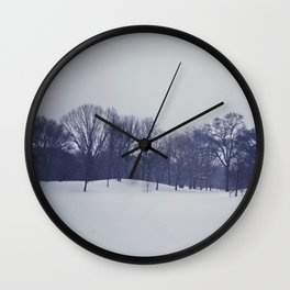 Landscape in the Snow Wall Clock