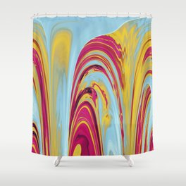 The Flaring Falls of Strine Canyons (Lava Variant) Shower Curtain