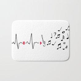Musical pulse Bath Mat