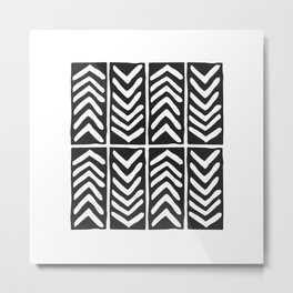 Tribal Print B&W- 03 Metal Print