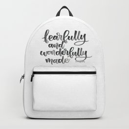 Fearfully and Wonderfully Made Backpack
