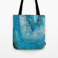 agate Tote Bags featuring Agate by lescapricesdefilles