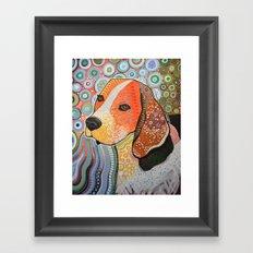 Rocky ... Abstract dog art, Beagle Framed Art Print