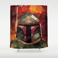 boba fett Shower Curtains featuring Boba Fett by Eric Dufresne