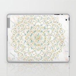 Marble Mandala Sea Shimmer Gold + Turquoise Laptop & iPad Skin