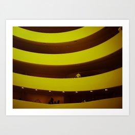 museum curves Art Print