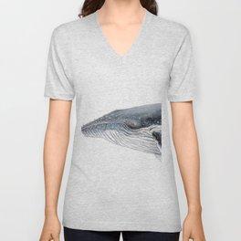 Humpback whale portrait Unisex V-Neck