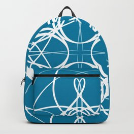 Blue White Swirl Backpack